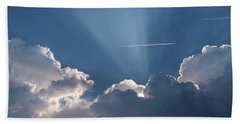 Even Through The Clouds You Will Find A Ray Of Sunshine Bath Towel