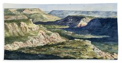 Evening Flight Over Palo Duro Canyon Bath Towel