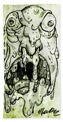 Evil Snot Monster Bath Towel
