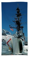 F4-phantom On The Deck Bath Towel by Micah May