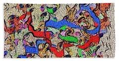 Fabric Of Life Bath Towel by Alec Drake