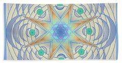 Hand Towel featuring the digital art Fading Geometrics by Mario Carini