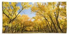 Fall Leaves In New Mexico Bath Towel