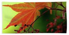 Fall Leaves Bath Towel by Michelle Joseph-Long