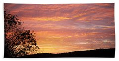 Fall Sunrise Bath Towel