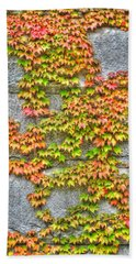 Bath Towel featuring the photograph Fall Wall by Michael Frank Jr