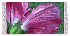 Hand Towel featuring the digital art Fancy Finish by Debbie Portwood