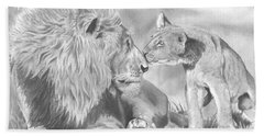 Father And Cub Bath Towel