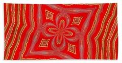 Favorite Red Pillow Bath Towel by Alec Drake