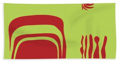 Hand Towel featuring the digital art Fire Spirit Cave by Kevin McLaughlin