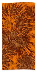 Fireworks Glow Hand Towel by Methune Hively
