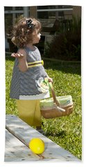 Hand Towel featuring the photograph First Easter Egg Hunt by Steven Sparks
