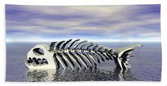 Bath Towel featuring the digital art Fish Bones by Phil Perkins