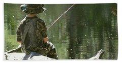 Fishin' And Wishin' Hand Towel