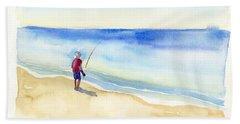 Fishing Alone Bath Towel