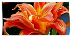 Flaming Flower Hand Towel