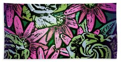 Hand Towel featuring the digital art Floral Explosion by George Pedro