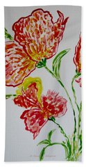 Hand Towel featuring the painting Florals by Sonali Gangane