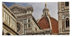 Hand Towel featuring the photograph Florence Duomo by Steven Sparks