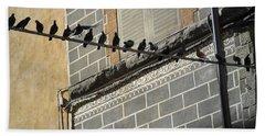 Florentine Pigeons Hand Towel