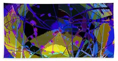 Hand Towel featuring the digital art Flower Abstract by Anne Mott