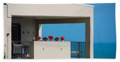 Flower Pots Five Hand Towel by John Schneider