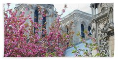 Hand Towel featuring the photograph Flowering Notre Dame by Jennifer Ancker