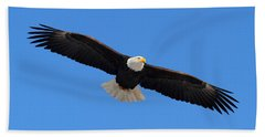Flying Bald Eagle Bath Towel