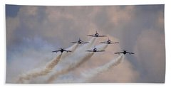 Flying In Formation Bath Towel by Julia Wilcox