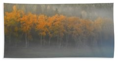Bath Towel featuring the photograph Foggy Autumn Morning by Albert Seger