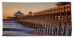 Folly Beach Pier Hand Towel