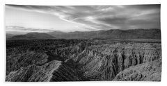 Font's Point Overlook   Black And White Hand Towel