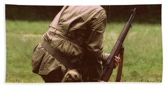 Hand Towel featuring the photograph For Freedom by Lydia Holly