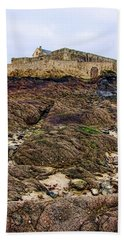 Fort National In Saint Malo Brittany France Hand Towel