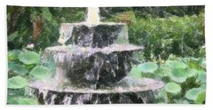 Fountain Bath Towel by Donna  Smith