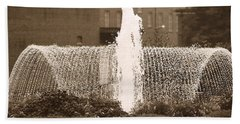Fountain In Town Hand Towel