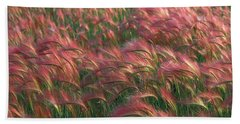 Hand Towel featuring the photograph Foxtail Barley by Doug Herr
