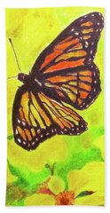 Bath Towel featuring the drawing Free To Fly by Beth Saffer