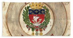 French Coat Of Arms Hand Towel by Debbie DeWitt
