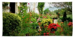 French Cottage Garden Hand Towel