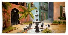 French Quarter Fountain Hand Towel