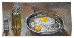 Fried Eggs Bath Towel