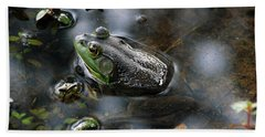 Frog In The Millpond Bath Towel by Kay Lovingood