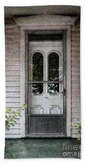 Front Door Of Vintage House Bath Towel