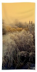 Hand Towel featuring the photograph Frost by Linsey Williams