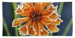 Frosty Flower Hand Towel