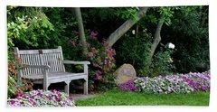 Garden Bench Bath Towel by Michelle Joseph-Long