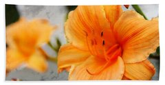 Hand Towel featuring the photograph Garden Lily by Davandra Cribbie