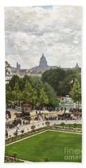 Garden Of The Princess Hand Towel by Claude Monet