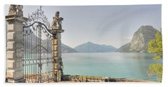 Gate On The Lake Front Hand Towel